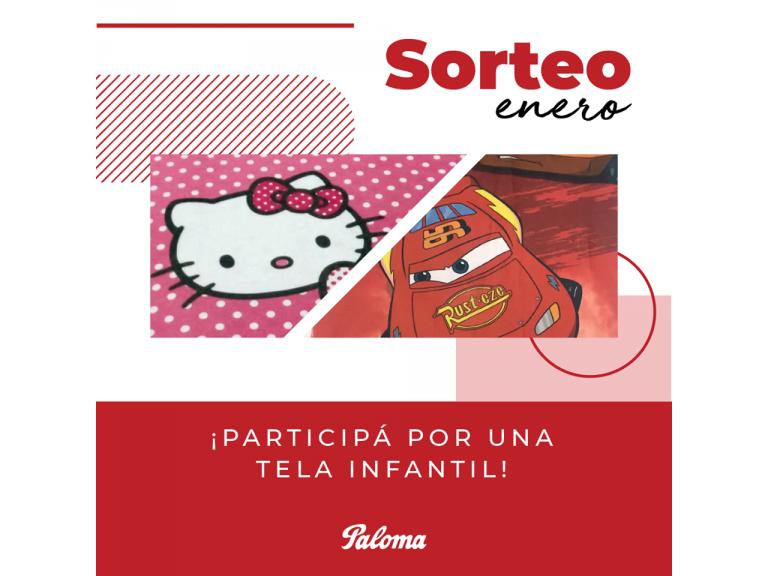SORTEO DEL MES DE ENERO: PARTICIPÁ DEL SORTEO DE UNA TELA INFANTIL EN NUESTRAS REDES SOCIALES!!