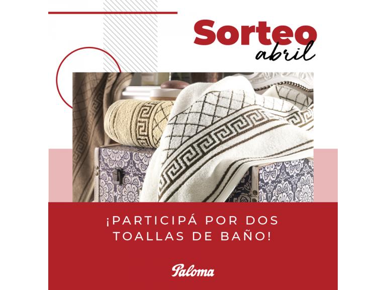 SORTEO DEL MES DE ABRIL: PARTICIPÁ DEL SORTEO DE DOS TOALLAS DE BAÑO EN NUESTRAS REDES SOCIALES!!