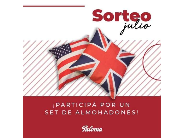SORTEO DEL MES DE JULIO: PARTICIPÁ DEL SORTEO DE UN SET DE ALMOHADONES EN NUESTRAS REDES SOCIALES!!