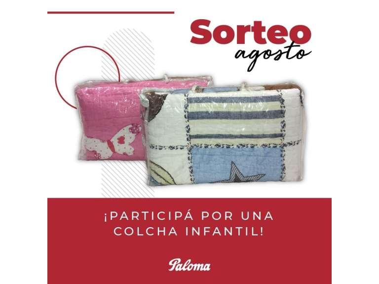 SORTEO DEL MES DE AGOSTO: PARTICIPÁ DEL SORTEO DE UNA COLCHA INFANTIL EN NUESTRAS REDES SOCIALES!!